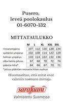 Pusero 6070 mittataulukko Sarafaani