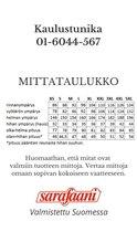Mittataulukko kaulustunika Sarafaani