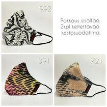 Design-kasvomaski filtteritasku Sarafaani värit 992 391 721